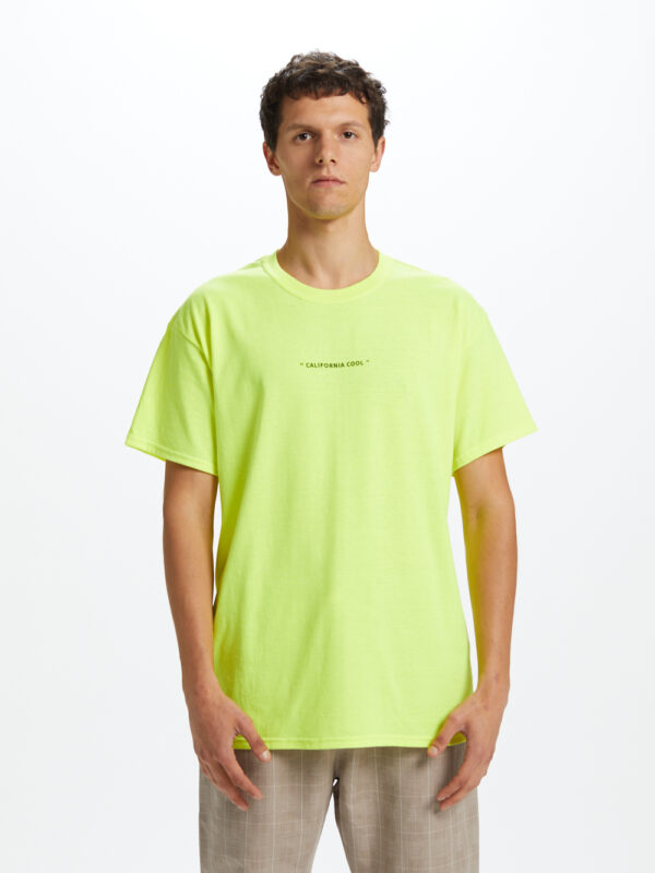 California Cool T-shirt Yellow Fluo