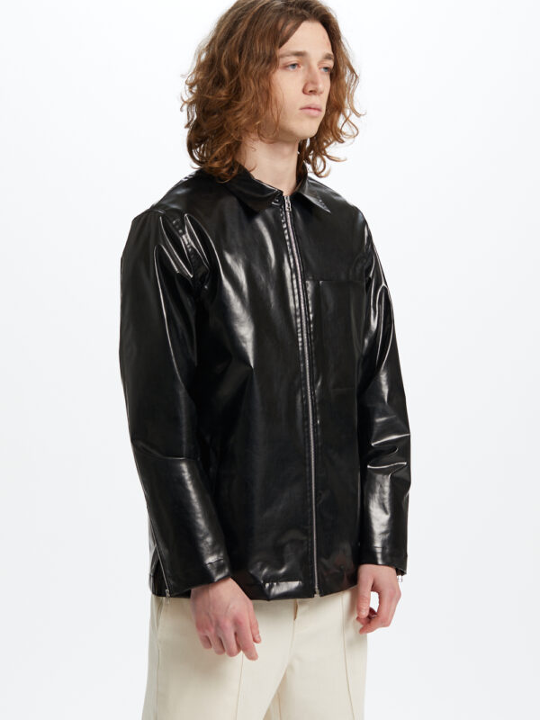 Sinner Eco Leather Jacket Black