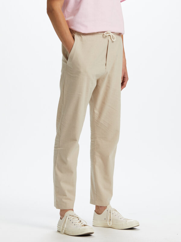 Coffin Pant Linen Stripes Beige