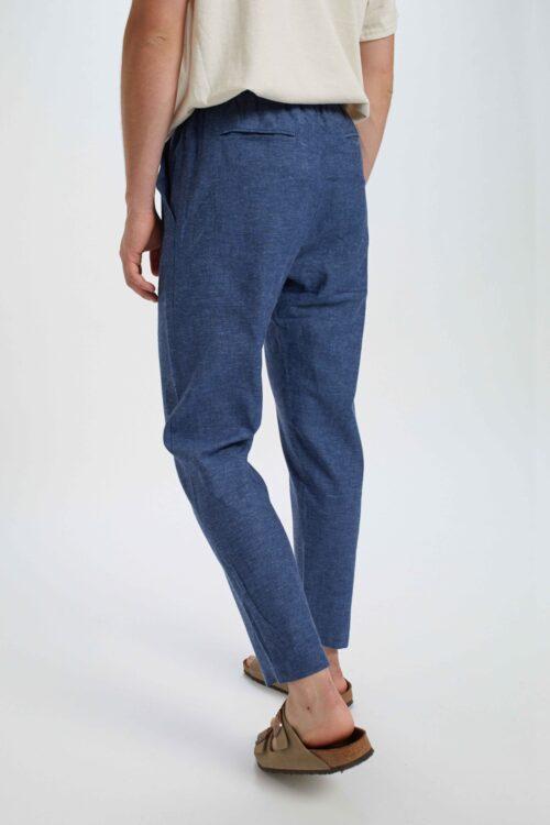Coffin Pant Linen Blue