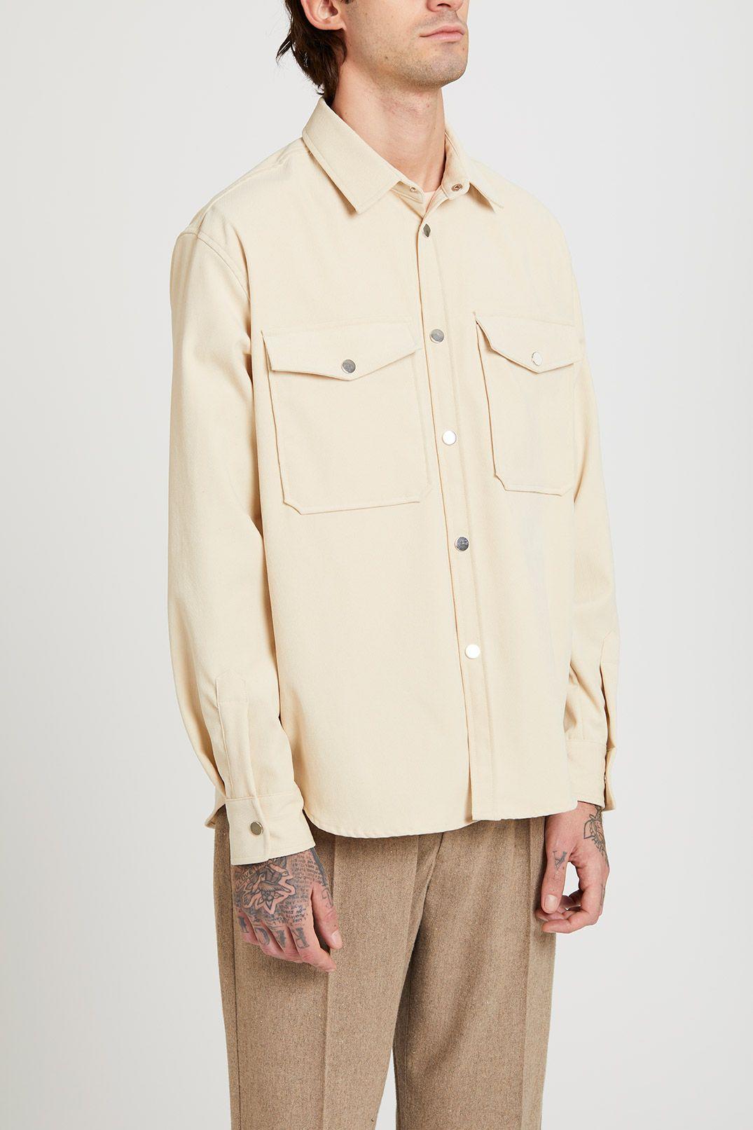 Cali Overshirt Velour Ivory